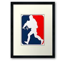 Major League Soldier! Framed Print