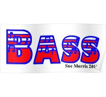 Bass Red White & Blue Poster