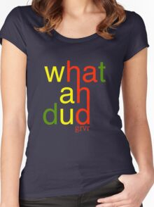 WHATAHDUD Women's Fitted Scoop T-Shirt