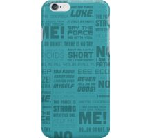 Star Wars Quotes - Light Blue iPhone Case/Skin