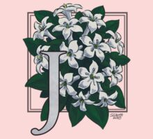J is for Jasmine - patch Baby Tee