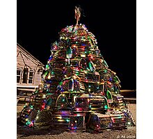 Lobster Trap Christmas Photographic Print