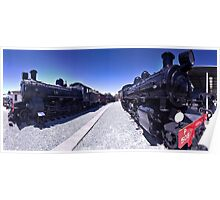 Steam Engines Pano Poster