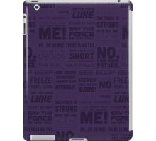 Star Wars Quotes - Purple iPad Case/Skin