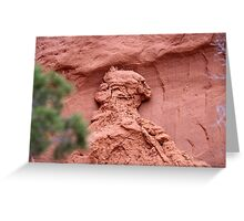 Indian Profile,Kodachrome State Park,Utah,USA Greeting Card