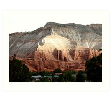Colored Mountain in Kodachrome State Park Art Print