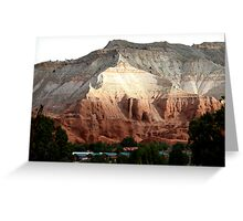 Colored Mountain in Kodachrome State Park Greeting Card