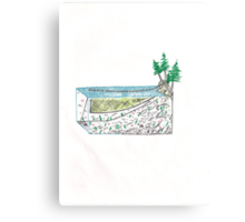 Abstract Set Net Bonsai Canvas Print