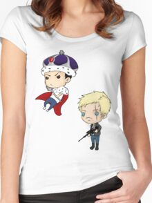 Moriarty and Moran chibis Women's Fitted Scoop T-Shirt