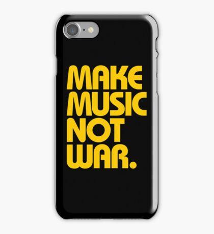 Make Music Not War (Mustard) iPhone Case/Skin