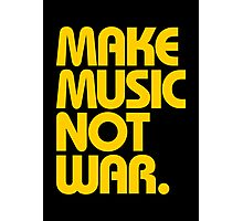 Make Music Not War (Mustard) Photographic Print