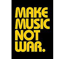 Make Music Not War (Mustard) Photographic Print