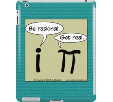Math Geek: Pi vs i for your iPad iPad Case/Skin