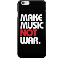 Make Music Not War (black/red) iPhone Case/Skin
