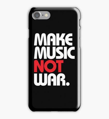 Make Music Not War (black/red) iPhone Case/Skin