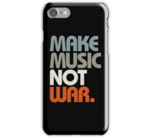 Make Music Not War (Retro) iPhone Case/Skin