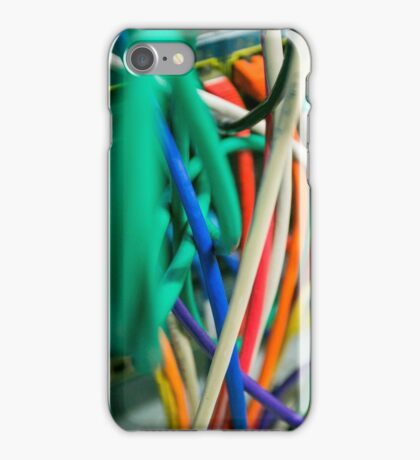 tangled Network cables iPhone Case/Skin