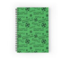 Welcome to Mutant High - Green Spiral Notebook