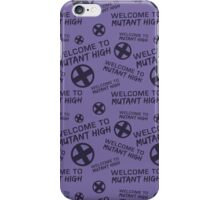 Welcome to Mutant High - Purple iPhone Case/Skin