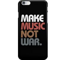 Make Music Not War (Antique) iPhone Case/Skin