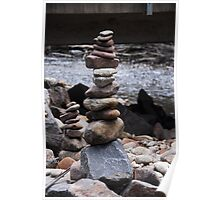 Stack of rocks, Cathedral Ranges, Victoria Poster