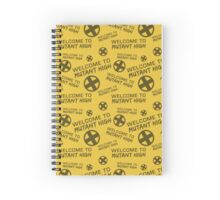 Welcome to Mutant High - Yellow Spiral Notebook