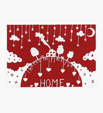 There's no place like home - red Photographic Print