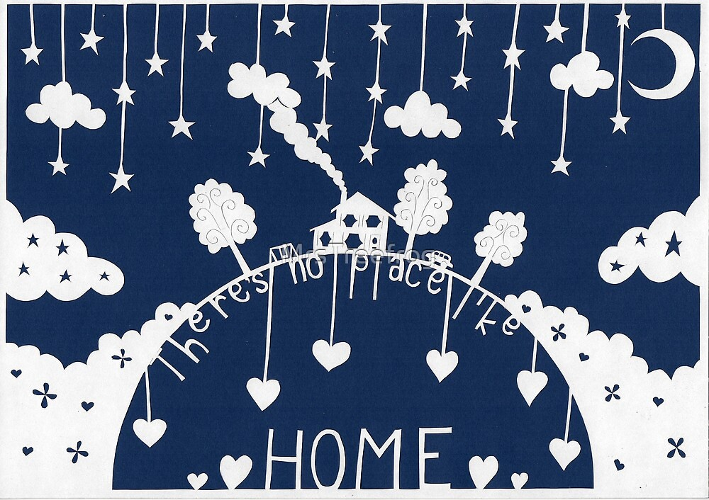 There's no place like home - dark blue by MrsTreefrog