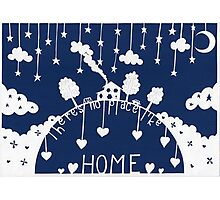 There's no place like home - evening blue Photographic Print