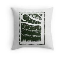 one moon lights a thousand forevers - forest green Throw Pillow