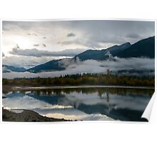 Morning at Moose lake Poster