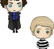 John and Sherlock by tobiejade