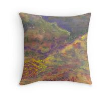 Patchwork Hills (Pastel) Throw Pillow