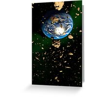 Asteroid Field Greeting Card