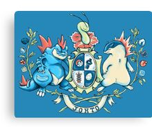 Johto Coat of Arms Canvas Print