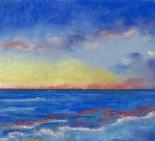Carlsbad Sunset North (pastel) by Niki Hilsabeck