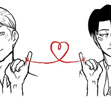 Erwin and Levi - Red String of Fate by tobiejade