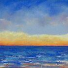 Carlsbad Sunset West (pastel) by Niki Hilsabeck