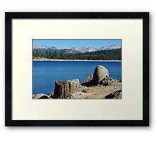 Lakeshore, Ice House Reservoir, California Framed Print
