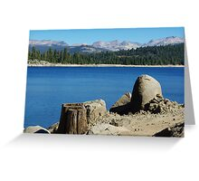 Lakeshore, Ice House Reservoir, California Greeting Card