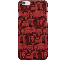 X Men Characters - Red iPhone Case/Skin