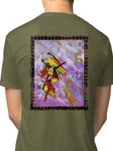 space ship invasion zapgun jetgirl Tri-blend T-Shirt