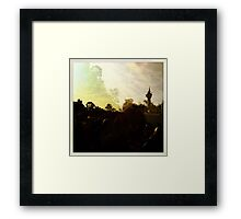 Pastel crowd 2 Framed Print