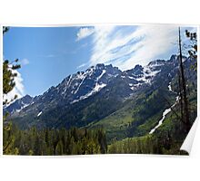 Grand Tetons and Clouds Poster