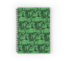 X Men Characters - Green Spiral Notebook