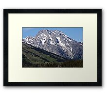 Grand Teton Mountain and Slope Framed Print