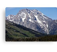 Grand Teton Mountain and Slope Canvas Print
