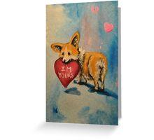 Pembroke Welsh Corgi~dog~I'm Yours~Valentine Greeting Card
