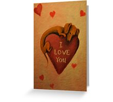 Dachshund~Dog~I Love You~Valentine Greeting Card
