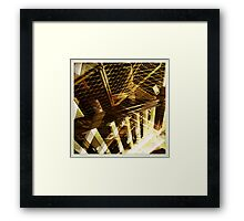 Criss Cross, Applesauce Framed Print